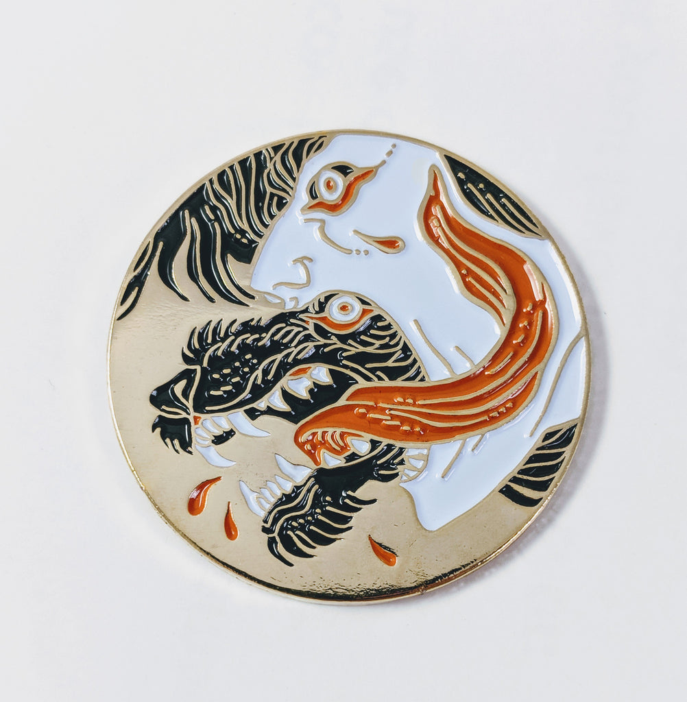 Full Body Curse (Gold) Enamel Pin By Becky Cloonan