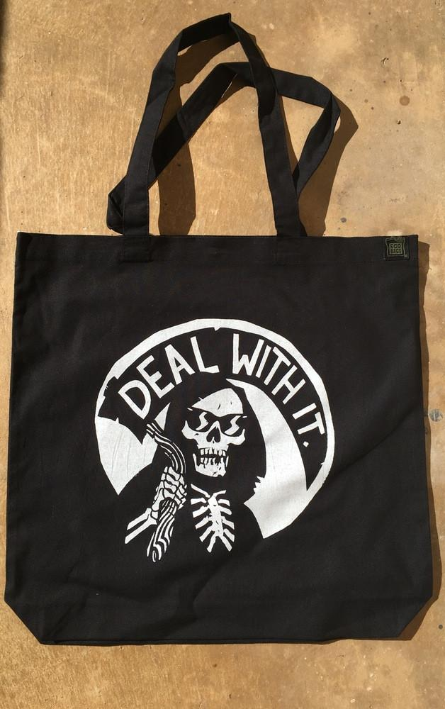 """Deal With It"" Reaper Madness Tote by Becky Cloonan"