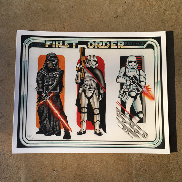 First Order By Ian Bederman Poster
