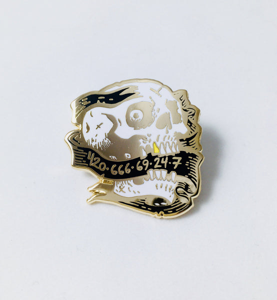 Lucky Numbers (Gold Variant) Enamel Pin By Becky Cloonan