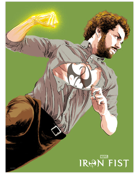 Marvel's Iron Fist Print by Matthew Woodson