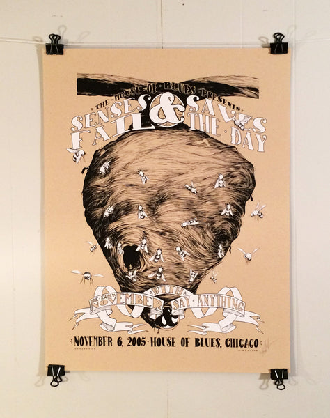 Senses Fail & Saves The Day By Matthew Woodson Poster