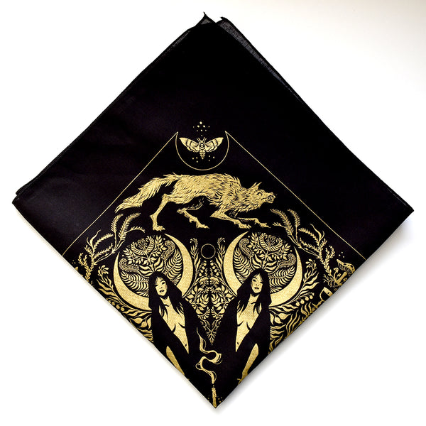 She-wolf Bandana (Gold) by Becky Cloonan