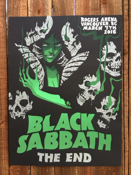 Black Sabbath - The End By Becky Cloonan Poster