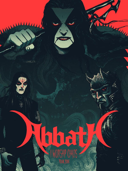 "Abbath ""I Worship Chaos"" Akira Red Variant by Becky Cloonan"