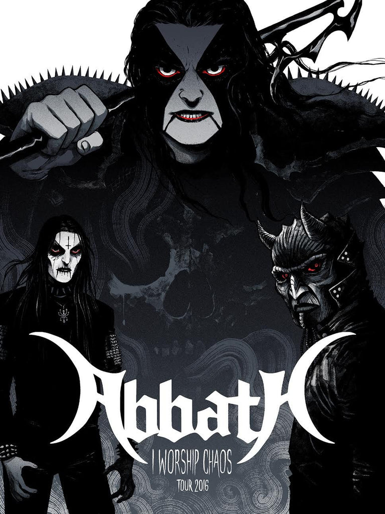 "Abbath ""I Worship Chaos"" Wintermoon Grey by Becky Cloonan"