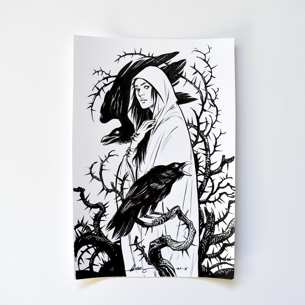 i. THE RAVENS. Original Artwork by Becky Cloonan