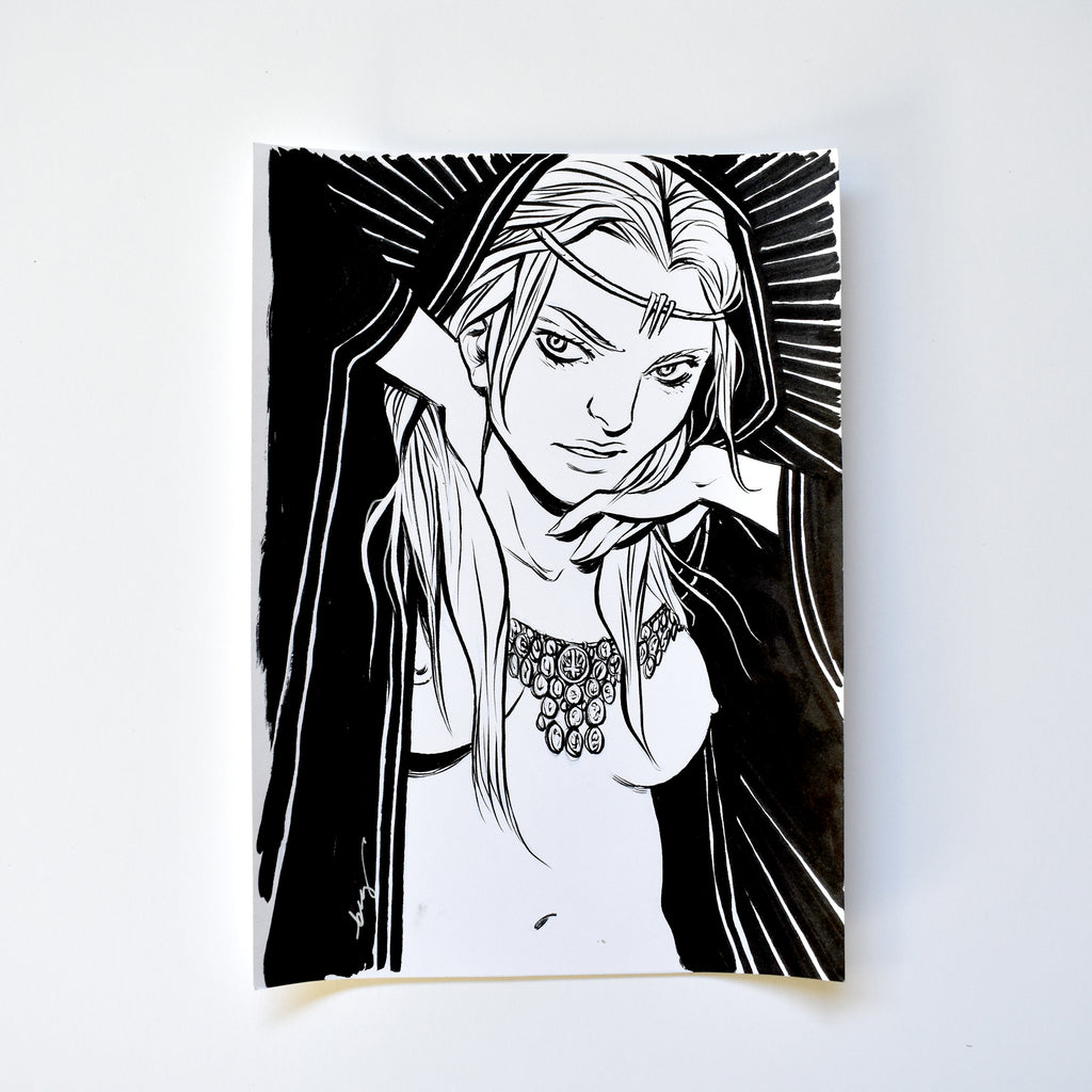ii. THE QUEEN. Original Artwork by Becky Cloonan