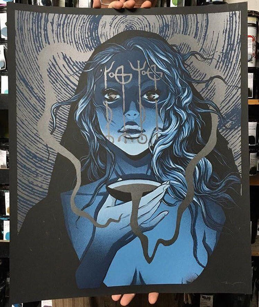 """Draumstafir"" Screenprint by Becky Cloonan"
