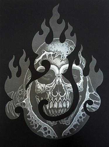 Agni Reaper limited silk screen by Matt Van Cura