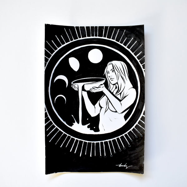 vi. THE MOON. Original Artwork by Becky Cloonan