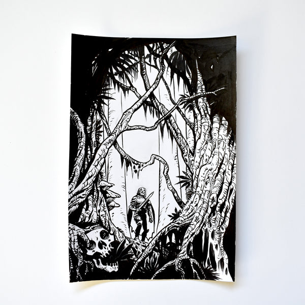 xv. THE WITHERING SWAMP. Original Artwork by Becky Cloonan