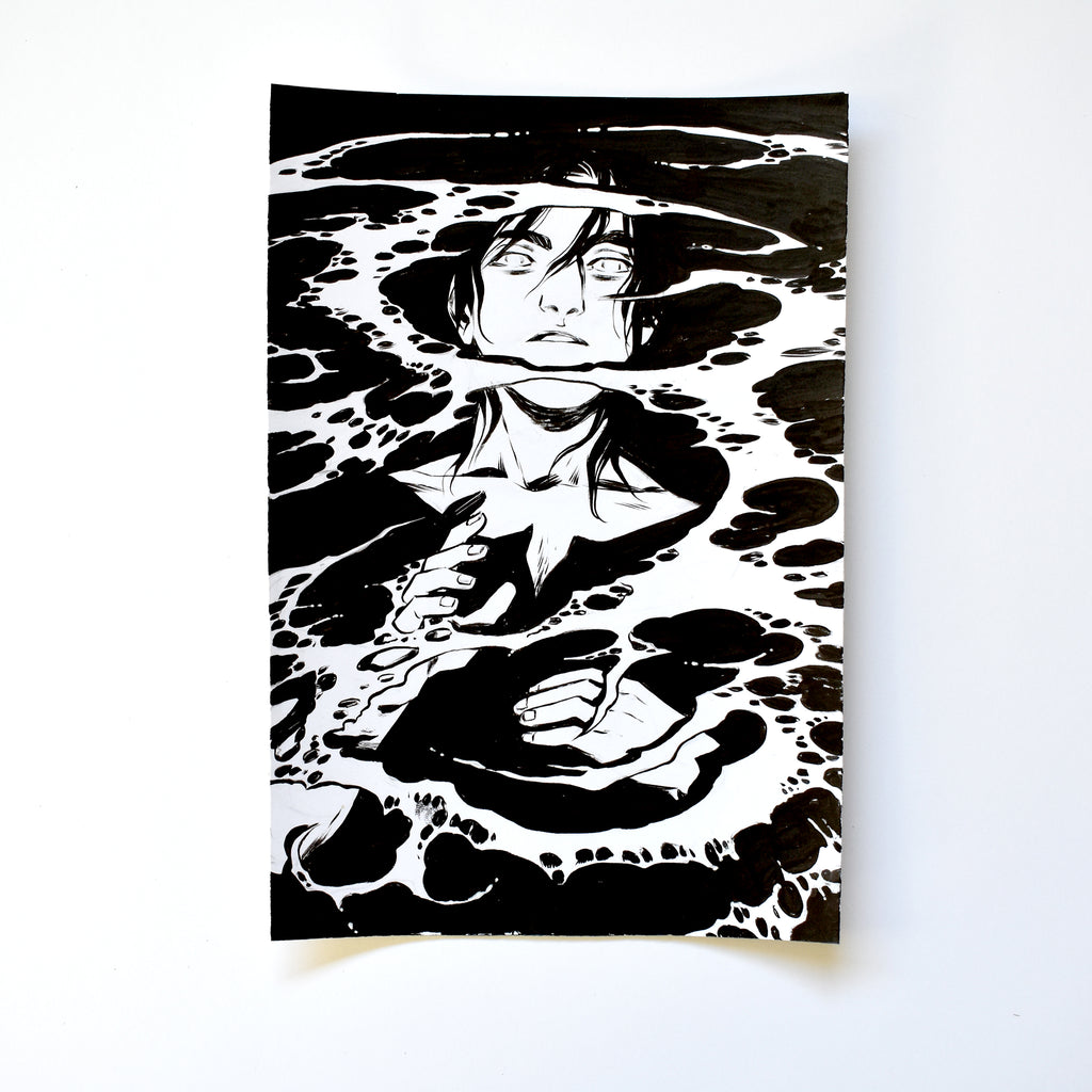 xxiv. THE SEA. Original Artwork by Becky Cloonan