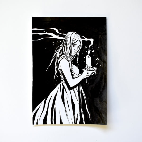 xxx. THE CANDLE. Original Artwork by Becky Cloonan