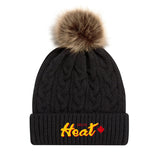 Faux Fur Pom Pom Toque  (Delta Fastpitch)