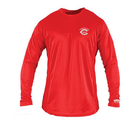 Rawlings Long Sleeve Shirt (Coquitlam Reds-PLAYER ONLY OPTIONAL)