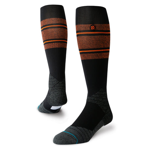 Stance Diamond Pro Stripe OTC Sock (Orange/Black)