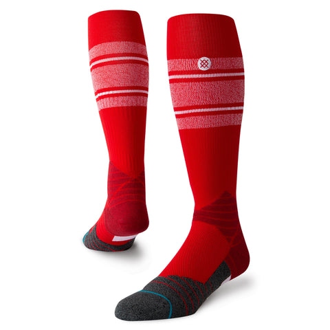 Stance Diamond Pro Stripe OTC Sock (Red/White)