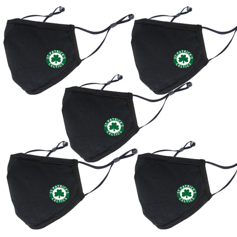 Face Mask: 5 Pack  (St.Pats)