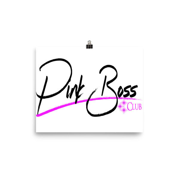 Poster Pink Boss Club - Candied Bacon