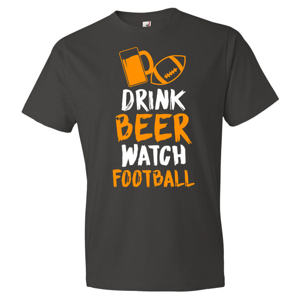 Drink Beer Watch Football Mens Tee - Short sleeve t-shirt - Candied Bacon
