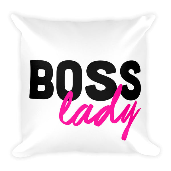 Boss Lady Throw Pillow Gift for Entrepreneurs - Candied Bacon
