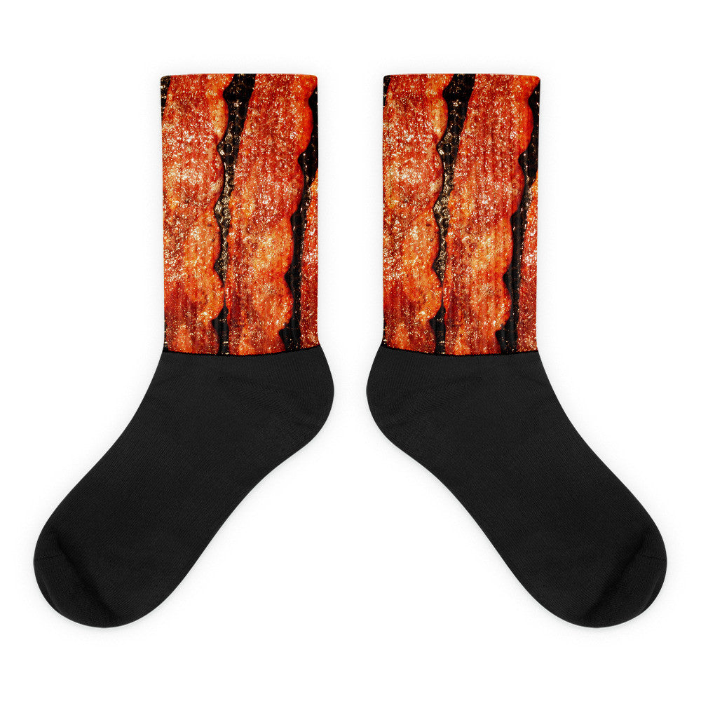 Bacon Black foot socks - Candied Bacon