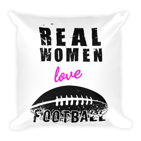 Real women Love Football Pillow - Candied Bacon