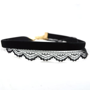 Bewitched Jewels 1 Elegant Lace Velvet Double-Layer Choker
