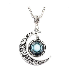 Bewitched Jewels 1 Wiccan Pagan Triple Moon Goddess Necklace