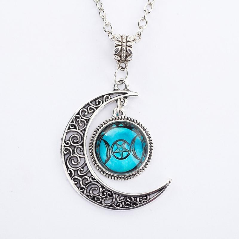 Bewitched Jewels 2 Wiccan Pagan Triple Moon Goddess Necklace