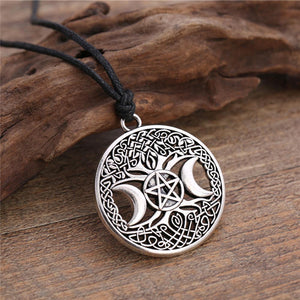 Tree of life triple moon goddess wiccan pentagram necklace bewitched jewels tree of life triple moon goddess wiccan pentagram necklace mozeypictures Image collections