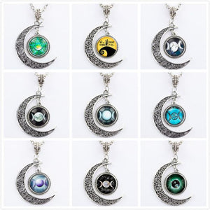 Bewitched Jewels Wiccan Pagan Triple Moon Goddess Necklace