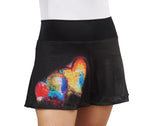 Black Double Hearts Skirt