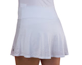 White Double Hearts Skirt