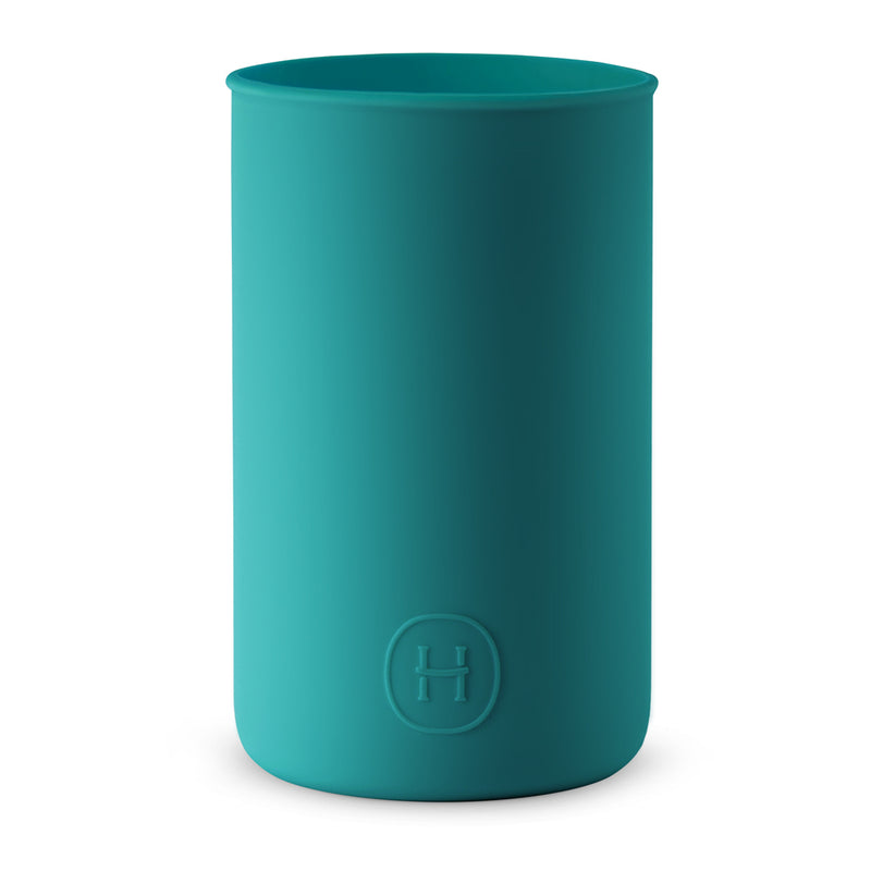 Silicone sleeve- Dark Cyan, HYDY - Water bottles, 18/8 (304) Stainless Steel, BPA Free, Reusable