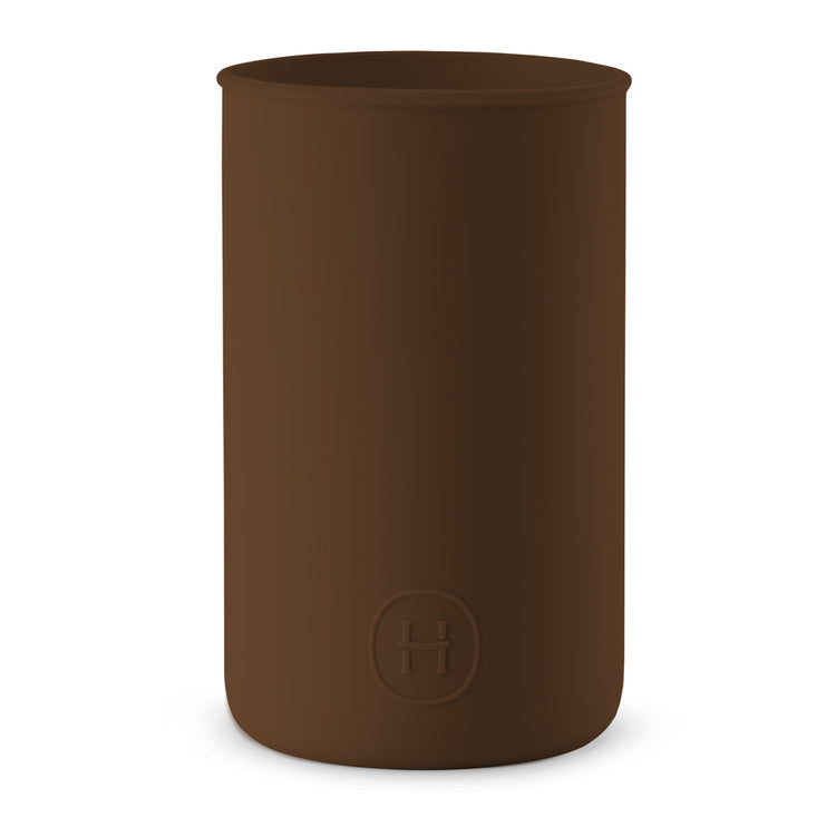 Silicone sleeve- Mocha, HYDY - Water bottles, 18/8 (304) Stainless Steel, BPA Free, Reusable