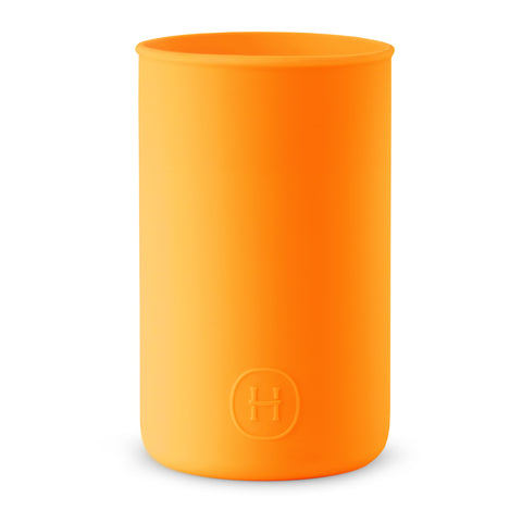 Silicone sleeve- Pumpkin Orange, HYDY - Water bottles, 18/8 (304) Stainless Steel, BPA Free, Reusable