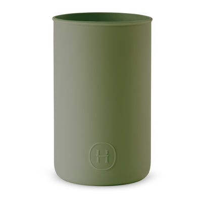 Silicone sleeve- Seaweed Green, HYDY - Water bottles, 18/8 (304) Stainless Steel, BPA Free, Reusable