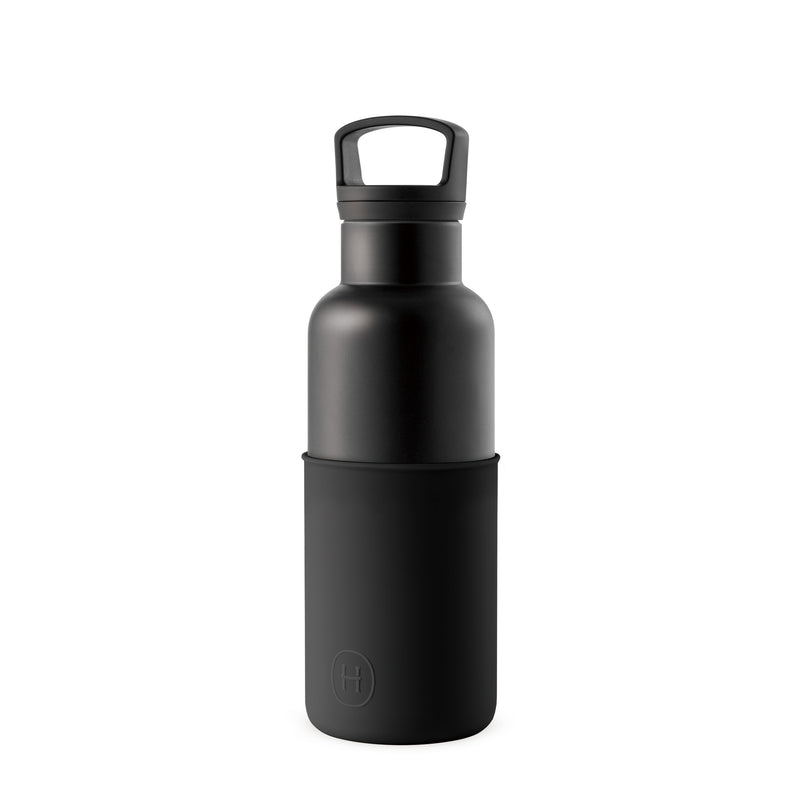 Black-Ink Black 16 Oz, HYDY - Water bottles, 18/8 (304) Stainless Steel, BPA Free, Reusable
