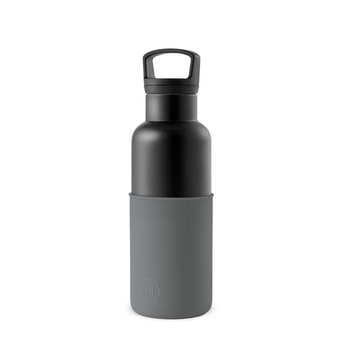 CinCin Black- Metallic Grey 16 oz, HYDY - Water bottles, 18/8 (304) Stainless Steel, BPA Free, Reusable
