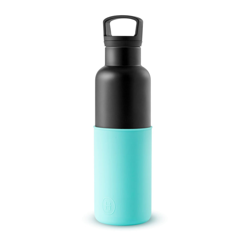 Black-Arctic Blue 20 Oz, HYDY - Water bottles, 18/8 (304) Stainless Steel, BPA Free, Reusable