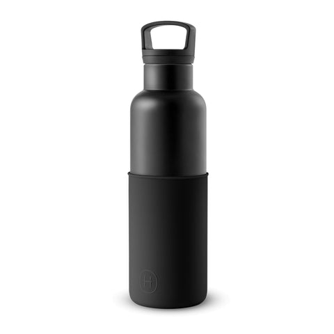 Cin Cin (Black-Midnight Black) 20 oz, HYDY - Water bottles, 18/8 (304) Stainless Steel, BPA Free, Reusable