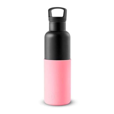 Cin Cin (Black-Rose Pink) 20 oz, HYDY - Water bottles, 18/8 (304) Stainless Steel, BPA Free, Reusable