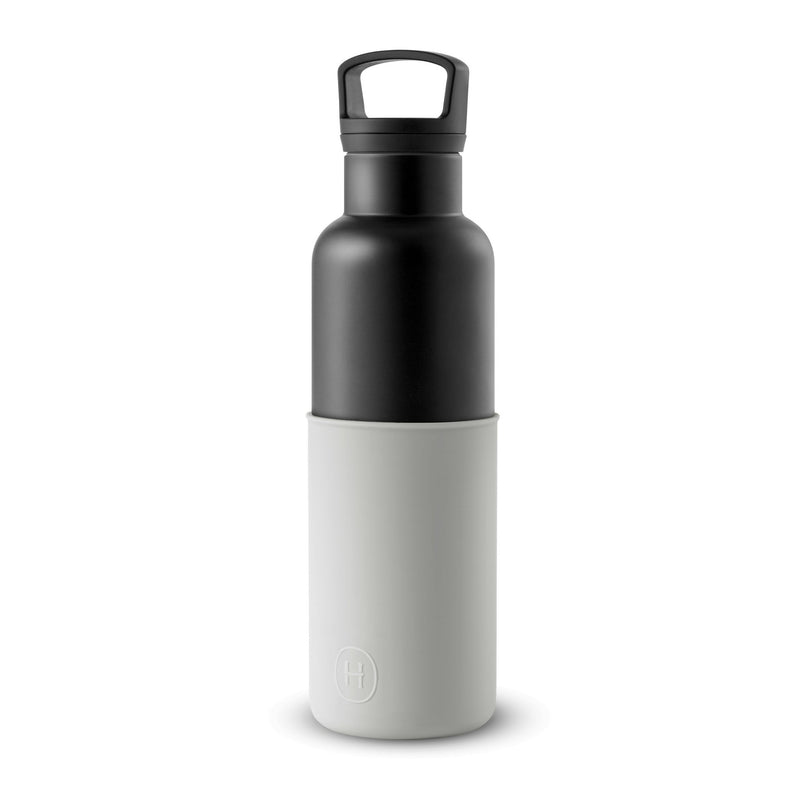 Black-Cloudy Grey 20 Oz, HYDY - Water bottles, 18/8 (304) Stainless Steel, BPA Free, Reusable