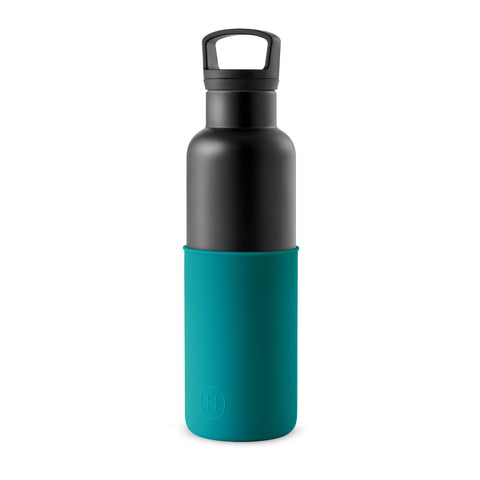 HYDY CinCin Black-Dark Cyan Double Wall Stainless Steel Water Bottle