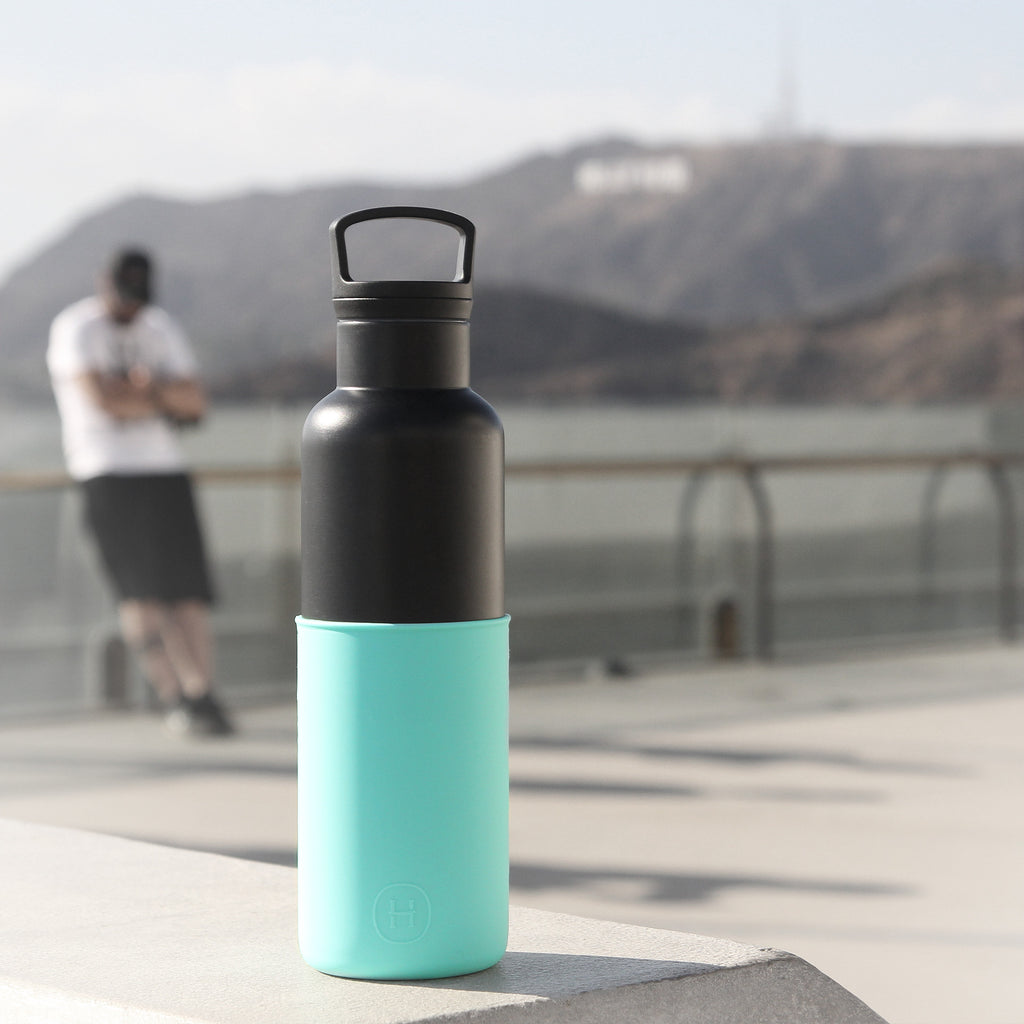 Cin Cin (Black-Arctic Blue) - HYDY® | Water bottles, 18/8 (304) Stainless Steel, BPA Free, Reusable