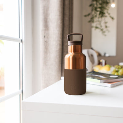 Bronze Gold-Mocha 12 Oz, HYDY - Water bottles, 18/8 (304) Stainless Steel, BPA Free, Reusable