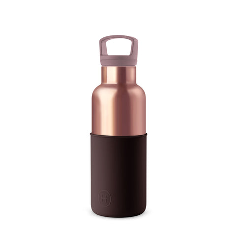 Pink Gold-Black Cherry 16 Oz, HYDY - Water bottles, 18/8 (304) Stainless Steel, BPA Free, Reusable