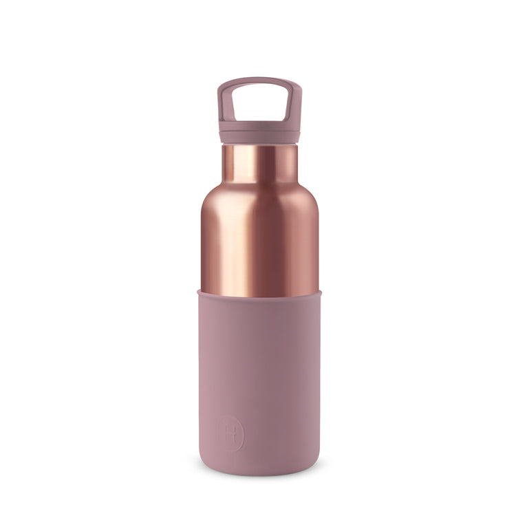 Pink Gold-Dusty Rose 16 Oz, HYDY - Water bottles, 18/8 (304) Stainless Steel, BPA Free, Reusable
